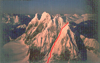 South West Couloir of Devil's Paw