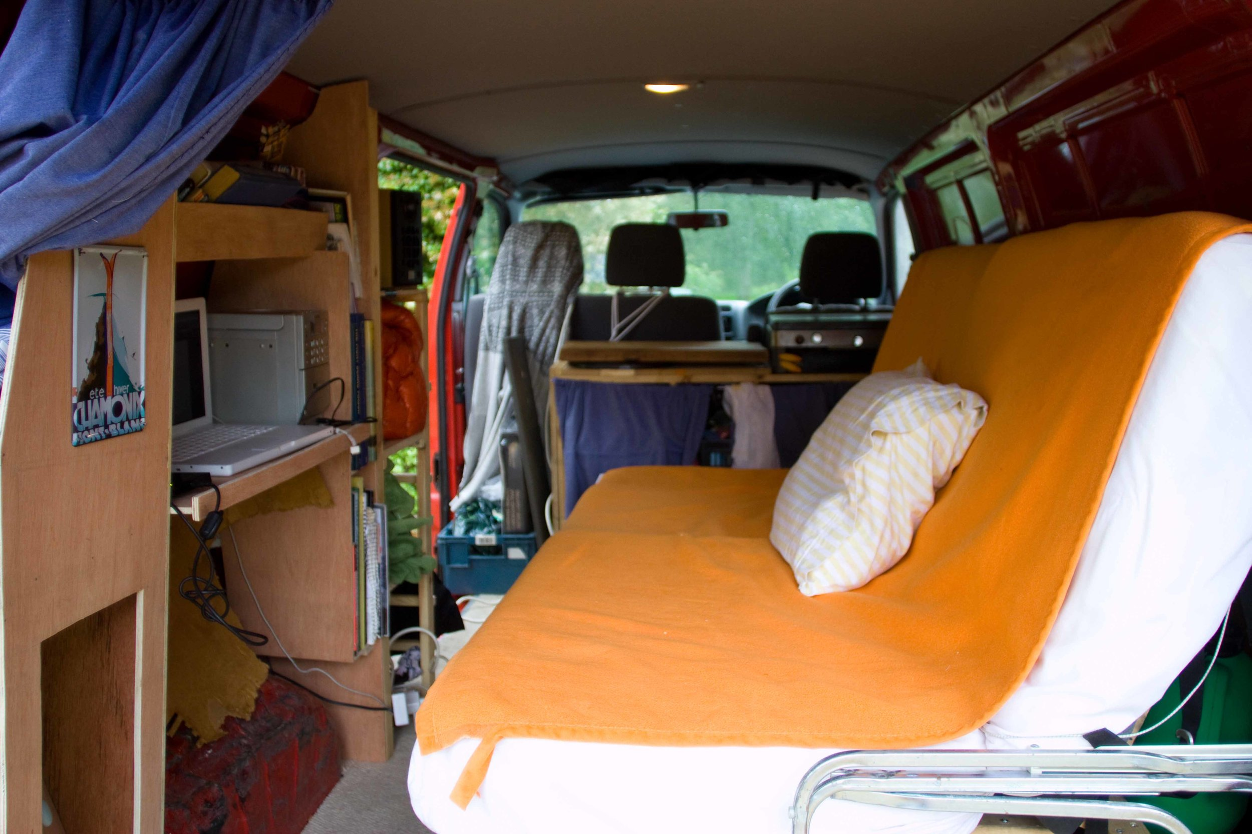 The Van ( The Cooler) in which I spent the season.