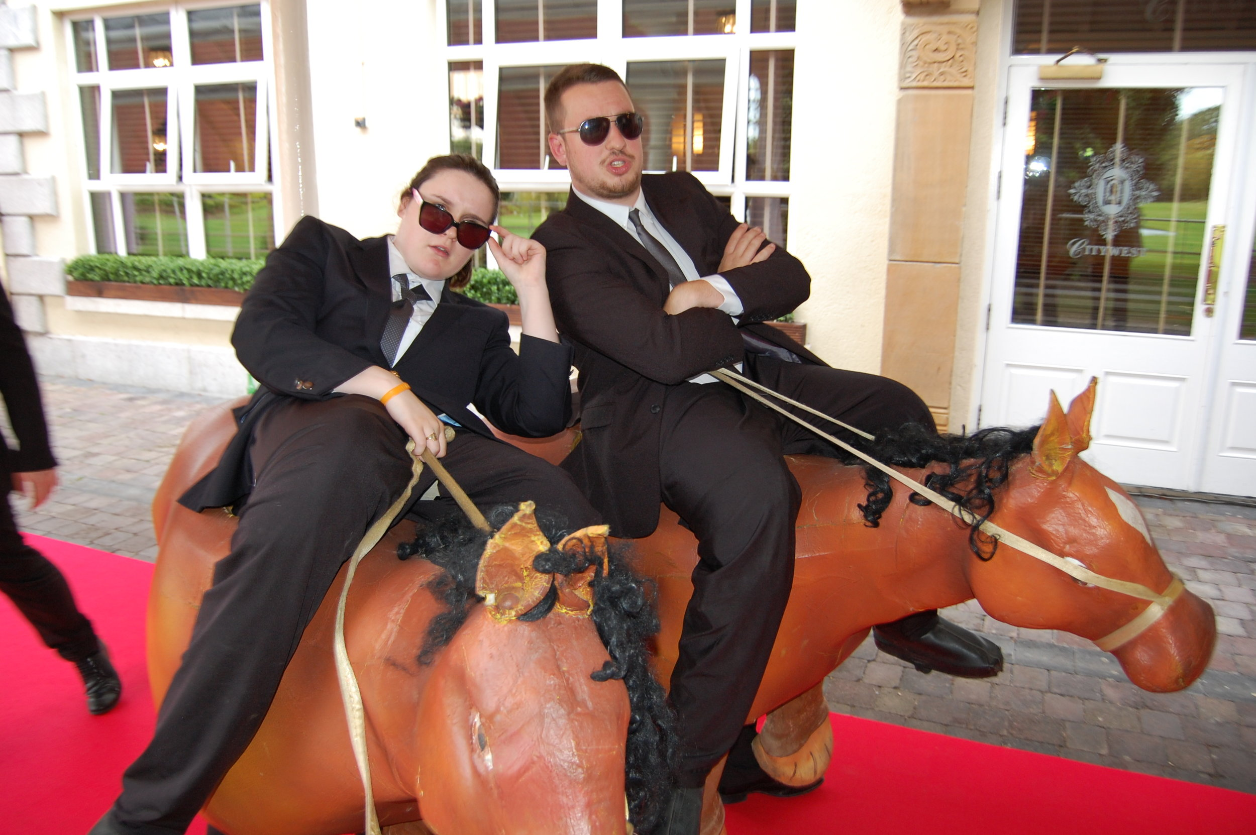 BOUNCERS ON HORSEBACK