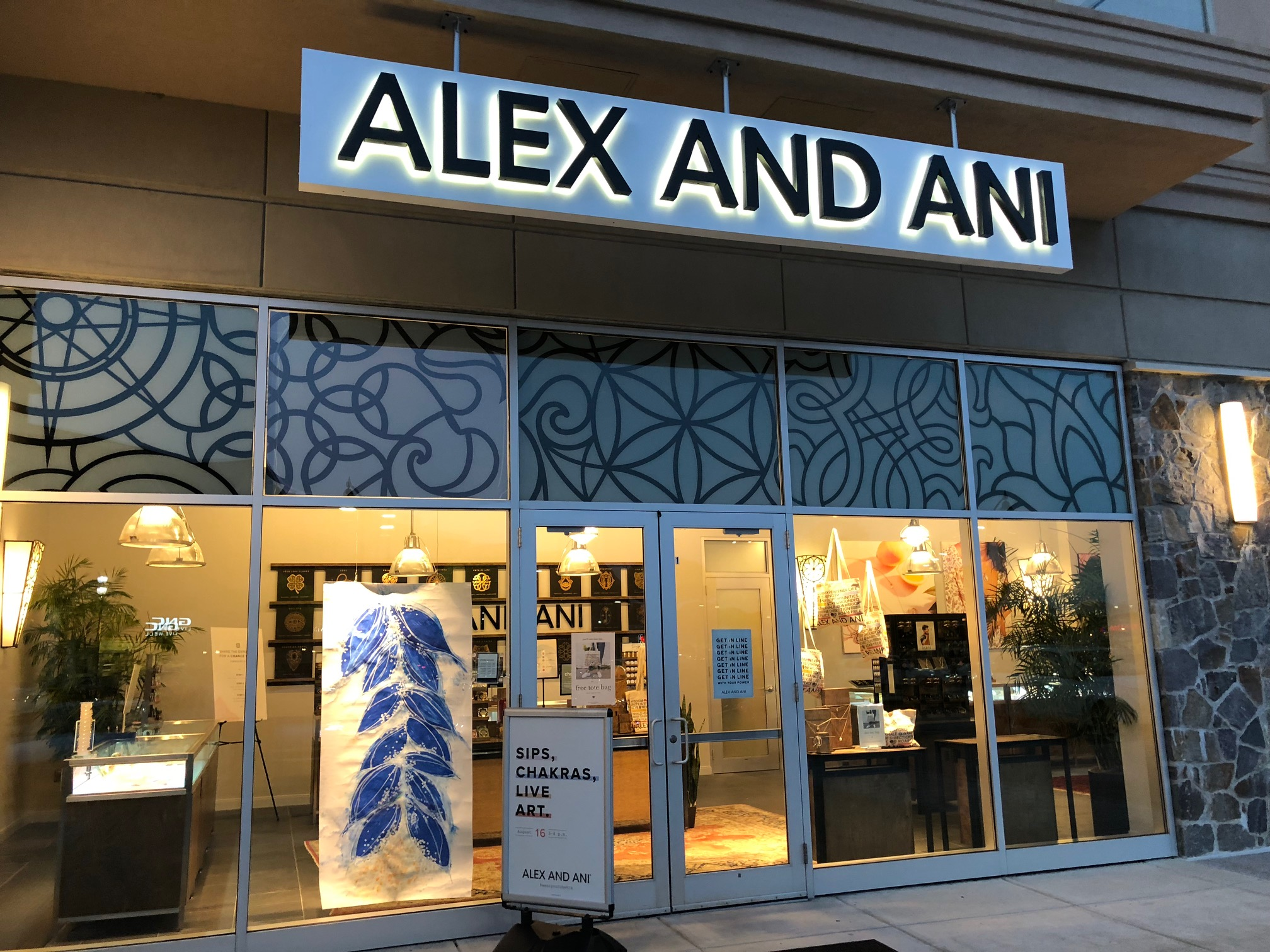 "My ""Petal Ladder"" in the window of the Alex and Ani World Headquarters storefront, Cranston, RI"