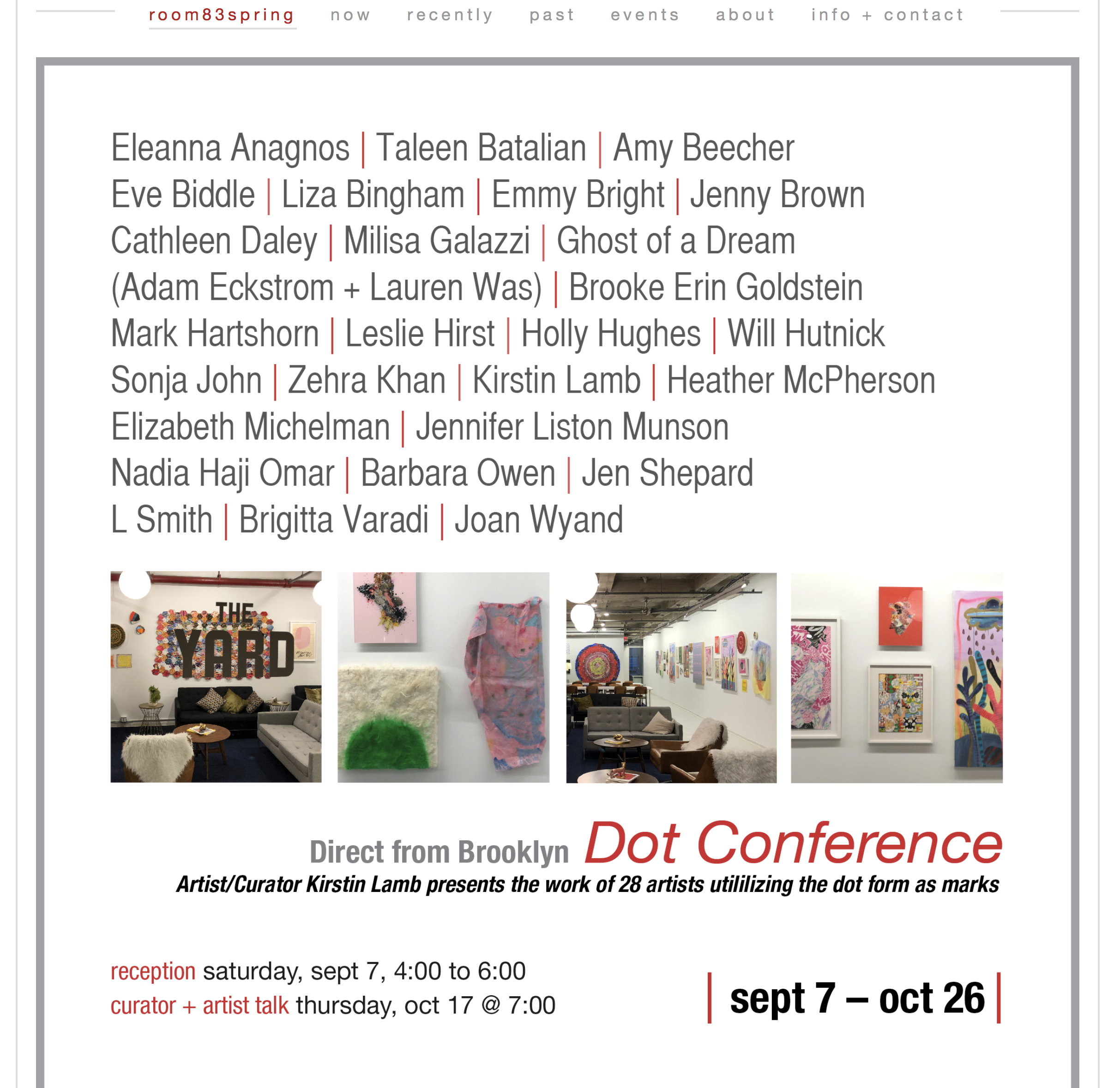 Dot Conference at Room 83 Spring