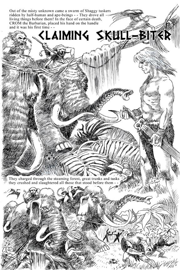 Crom the barbarian gardner f fox kurt brugel claiming skull-biter story page 1.jpg