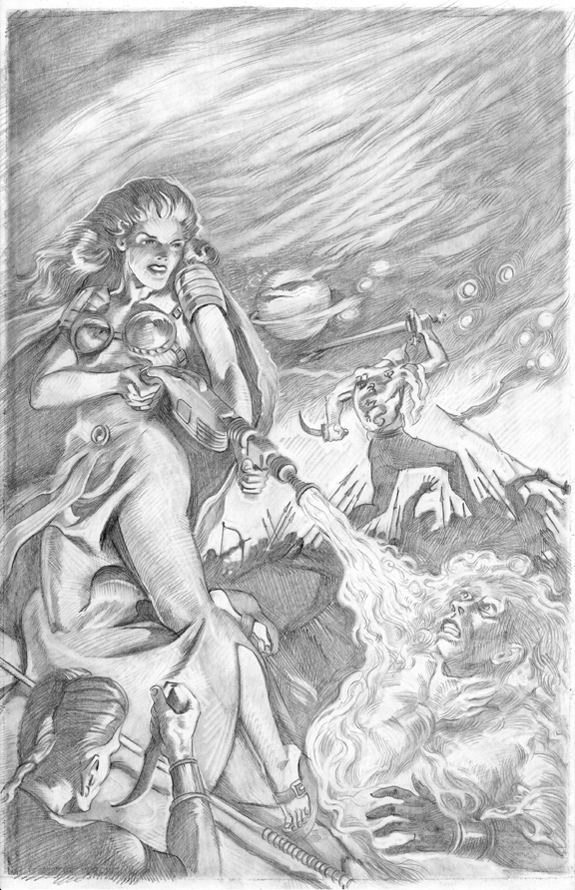 Planet Stories Spring 1947 cover re-creation drawing kurt brugel original.jpg