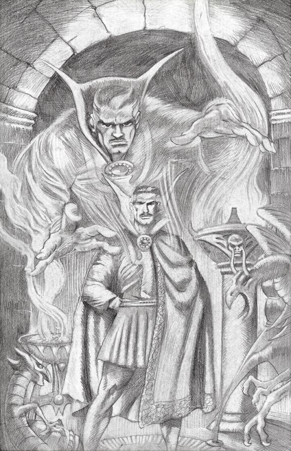 Dr Strange cover re-creation issue 169 pencil drawing commission kurt brugel professional freelance artist.jpg
