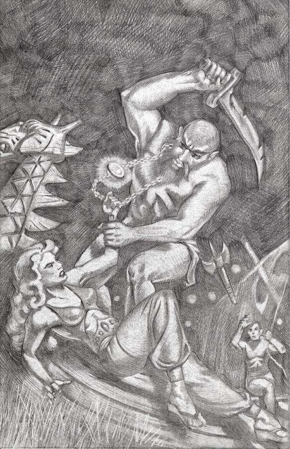Planet Stories Summer 1947 cover re-creation pencil drawing kurt brugel.jpg
