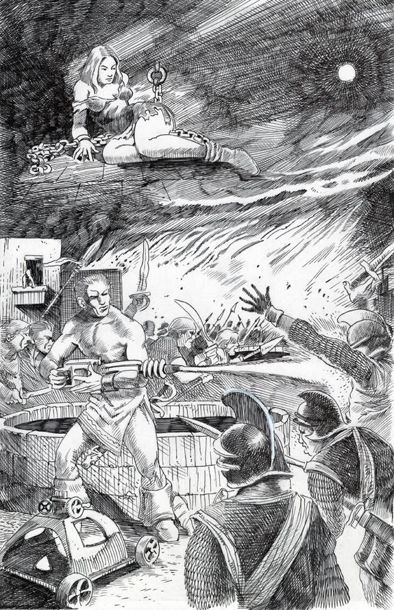 Planet Comics book illustration re-creation ink pen kurt brugel 1a.jpg