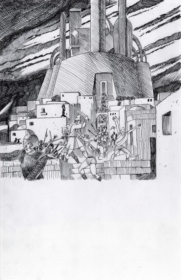 Planet Comics book illustration re-creation ink pen kurt brugel 1b.jpg