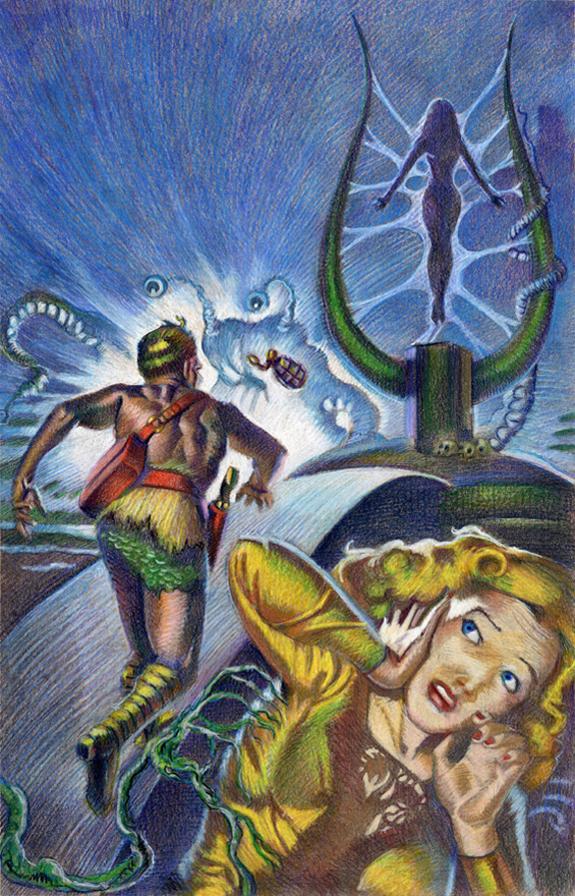 Planet Stories nov 1951 cover re-recreation kurt brugel.jpg