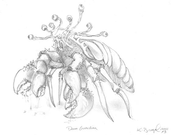 Tombs RPG illustration Doom Guardian pencils.jpg