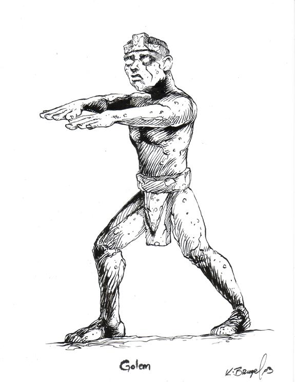 Tombs RPG illustration Stone Golem inks.jpg