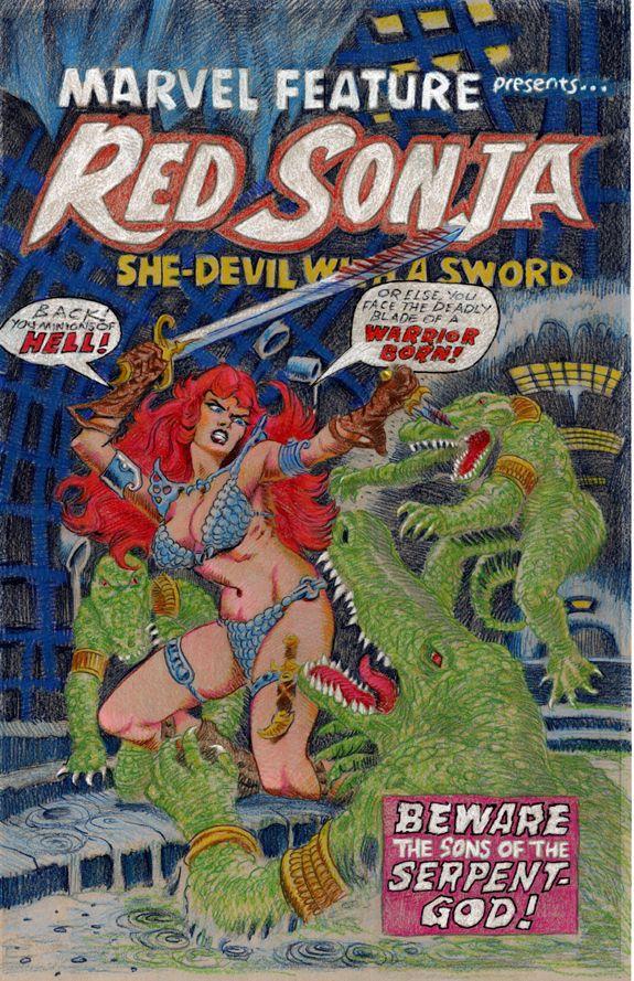 Marvel Feature 6 FrankThorne Red Sonja color pencils 03.jpg