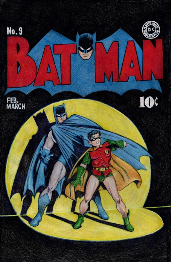 Batman and Robin 1940 cover colored pencil drawing 01 WEB-min.jpg