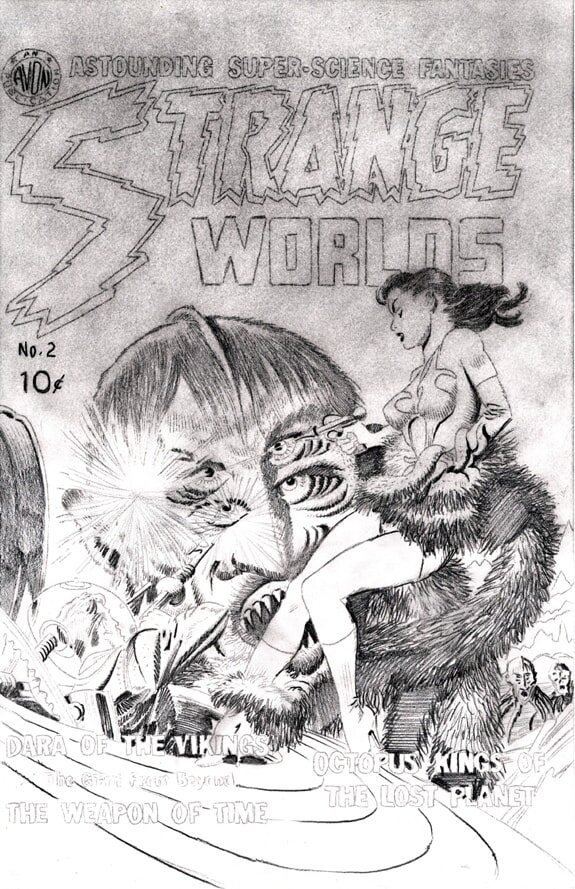 Strange Worlds #2 cover recreation preliminary pencil drawing 02 WEB-min.jpg