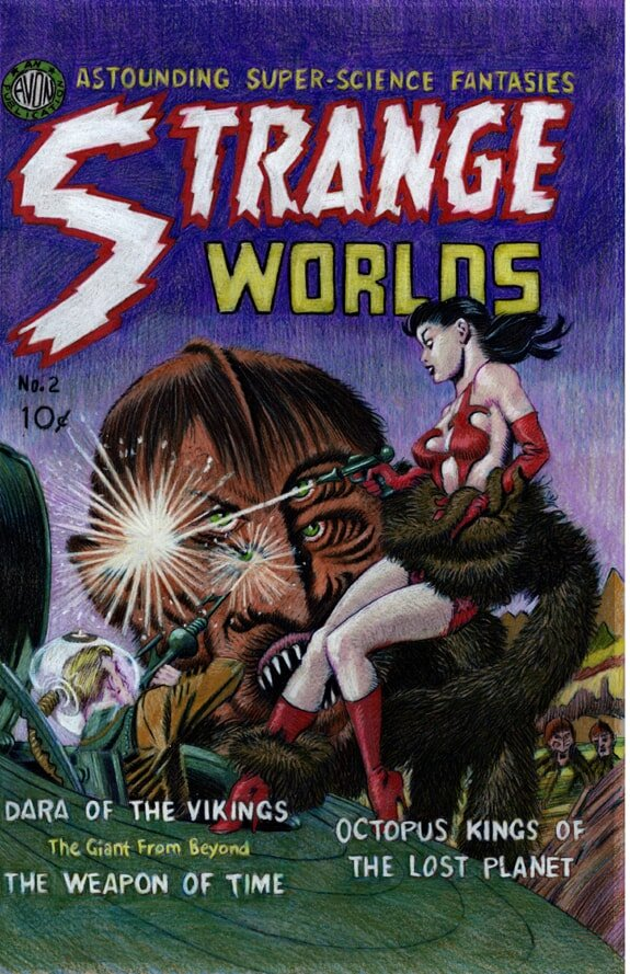 Strange Worlds #2 cover recreation colored pencil drawing 05 WEB-min.jpg