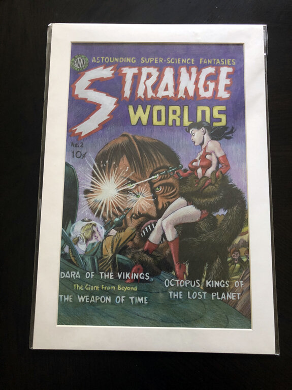 Colored Pencil Strange Worlds Matted.jpg