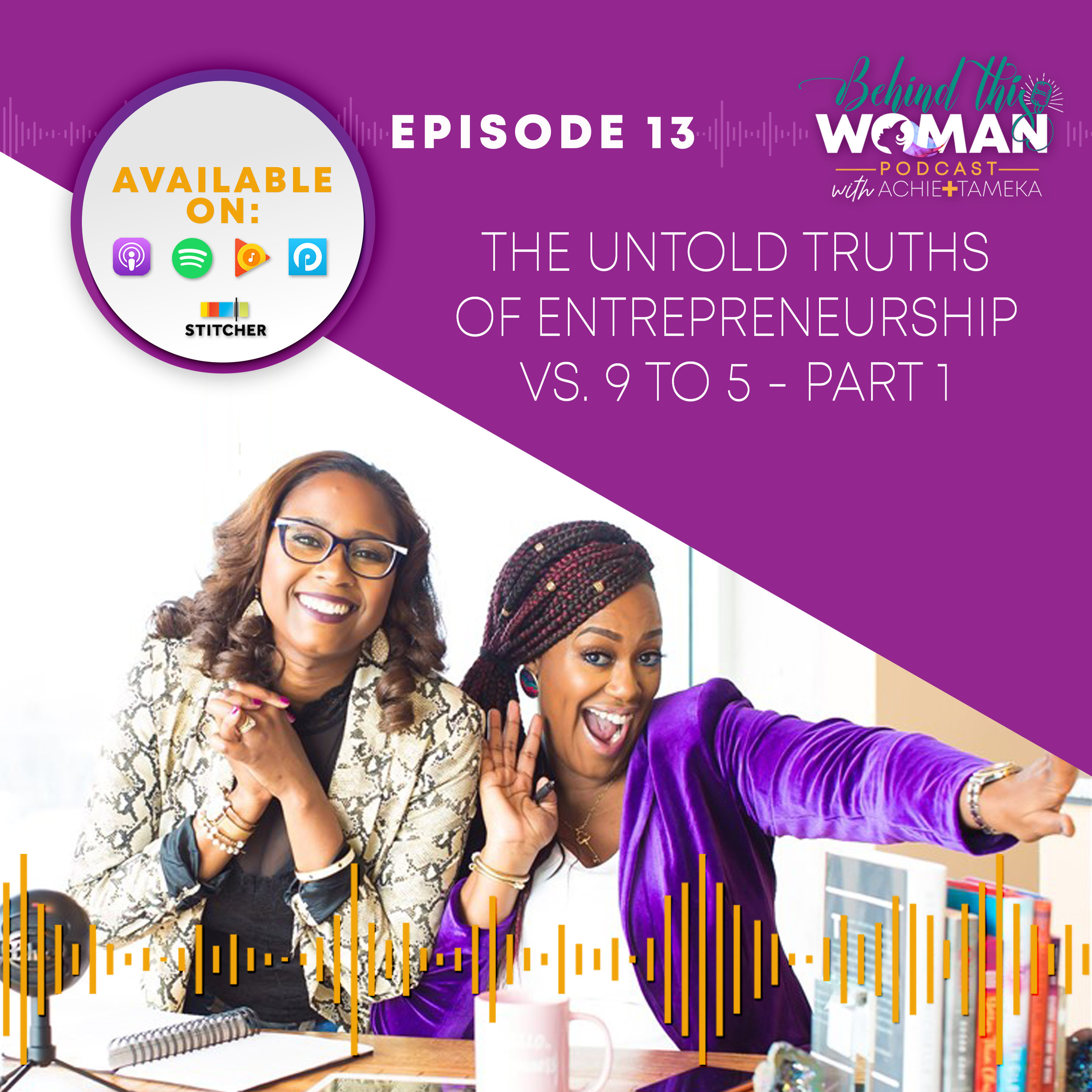 "- In this episode, we give our take on the great entrepreneurship vs 9 to 5 debate. First, having a fun laugh as we talk about our old and very random jobs.Achie discusses the many seasons of entrepreneurship, the true meaning of being a ""boss"", and her greatest self-employment fear.Tameka shares how she learned to stop hating her job, the importance of soft skills, and what her 9 to 5 has taught her over the years. Get your coffee, pad and pen ready! It's juicy!"