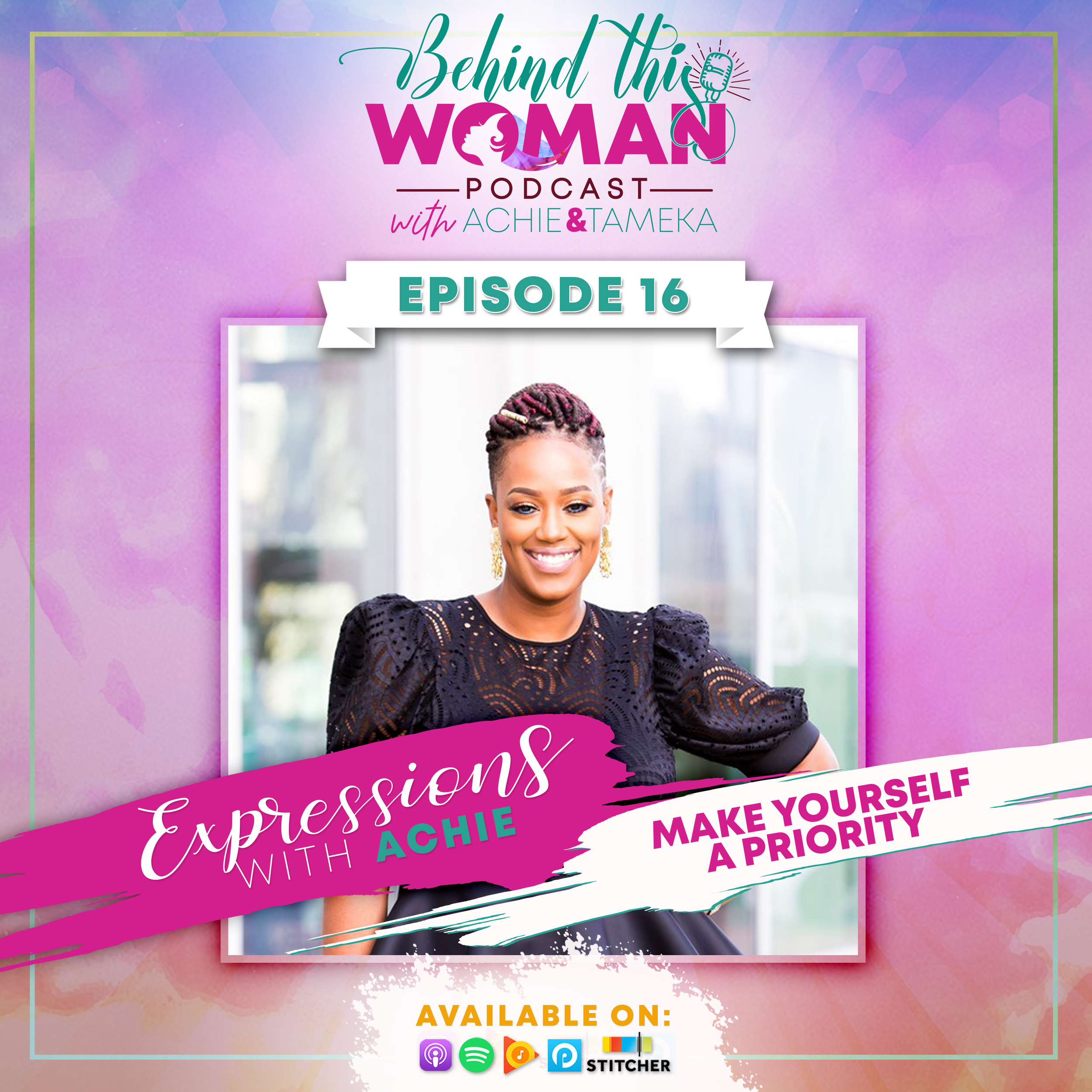 "- Self-care is a trending term…but are we truly making ourselves a priority? In this episode, Achie shares practical ways she has learned to manage her well-being, along with how she's still on a journey to stop selling herself short in areas where she needs it the most. She expounds on the concept of, ""If we're not growing, we're stagnant."" Listen in and let us know if anything resonates with you."