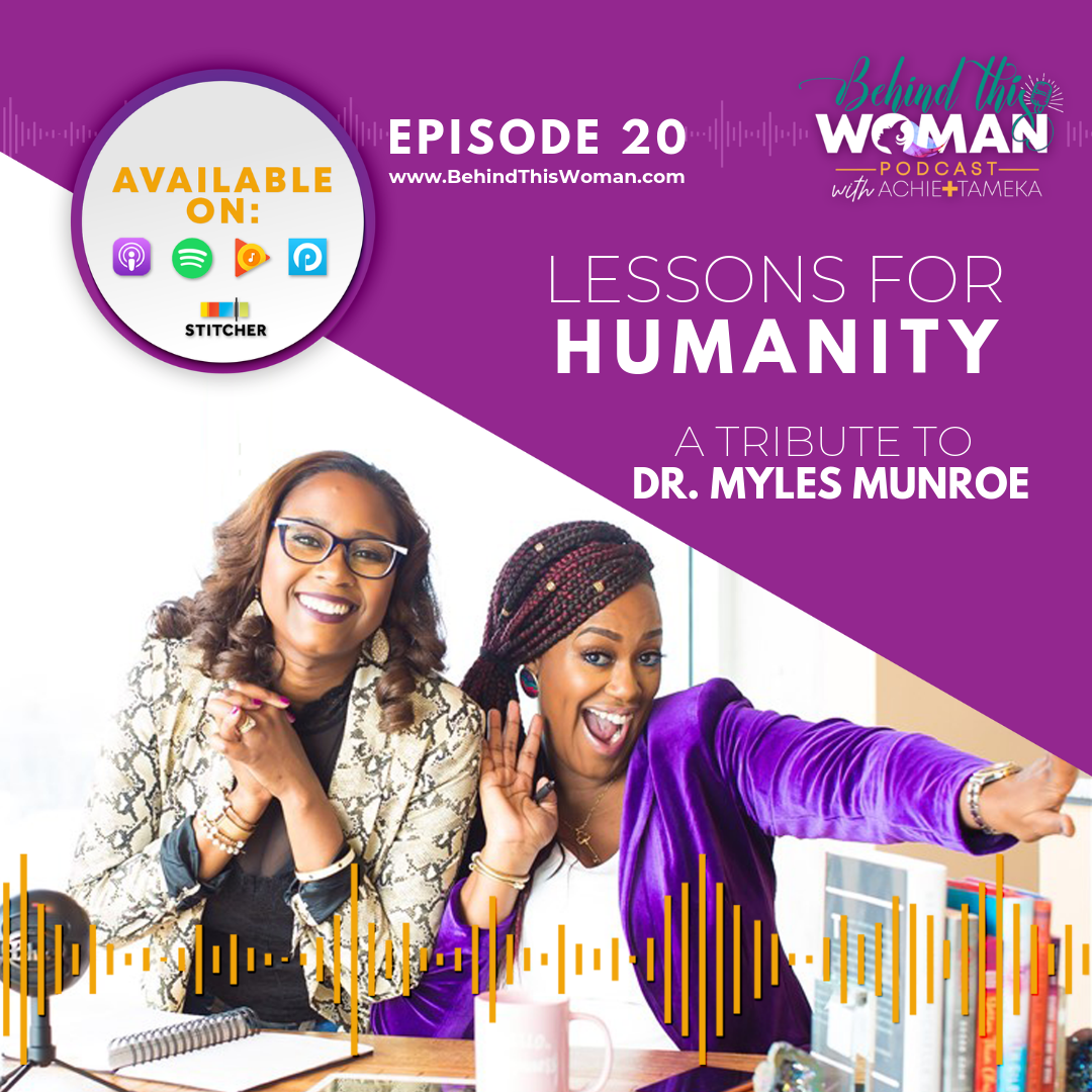 - In this episode, Achie and Tameka pay tribute to their late mentor, Dr. Myles Munroe. Recognizing his contribution to humanity while sharing the lasting impact he had on their lives. Achie recounts the critical leadership lessons she learned from his teachings and life. Similarly, Tameka describes how he disrupted her entire belief system and challenged her perception of self. Listen to this inciting conversation about purpose, vision, and dying empty.Click HERE if you're interested in the books mentioned in this episode.To get more information on the Munroe Emerging Leaders Conference coming up on July 20, 2019 in Atlanta, GA click HERE.Thanks for listening!