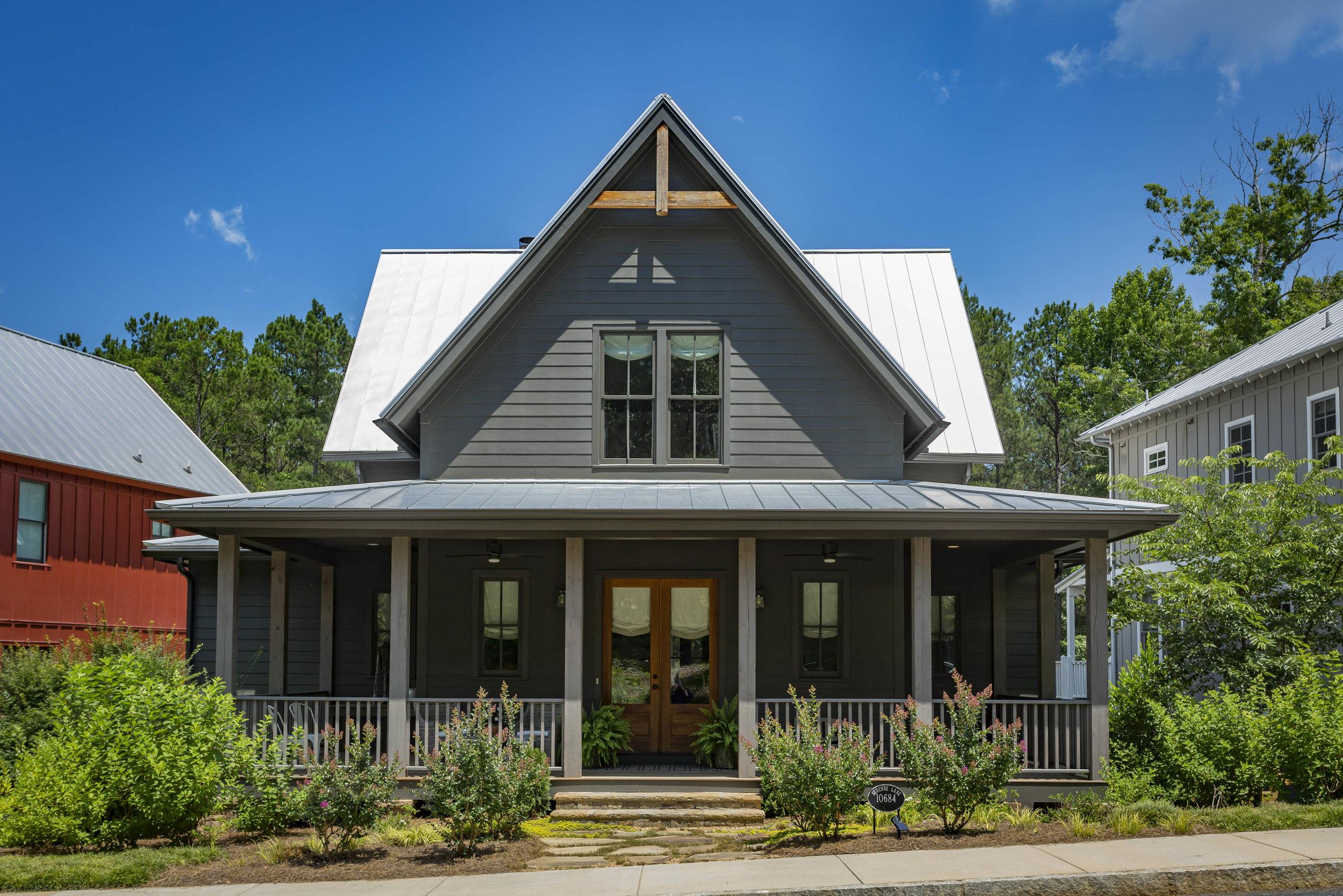 Gothic Farmhouse     5 Beds 4.5 baths 3,968 SQFT    Serenbe Community    Chattahoochee Hills, GA