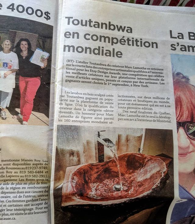 Always proud when the local newspaper write an article about you!😎 #etsydesignawards #etsyseller #TheEtsies #woodworking #toutanbwa #newspaper