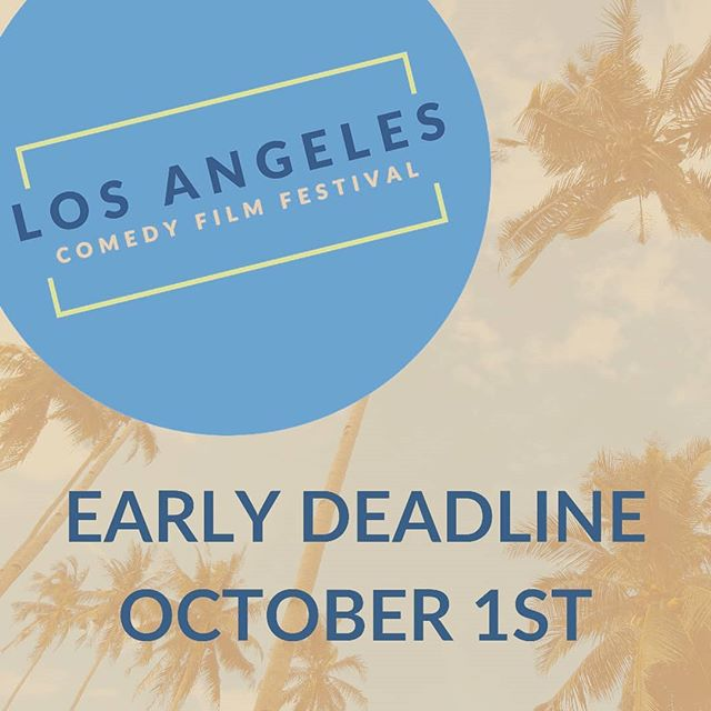 Just a reminder that next month is the early deadline! Can you believe it's September?  #comedyfilm #losangelesfilmfestival #comedyshorts #comedyfeature #filmfestival #callforentries #filmfreeway #officialselection