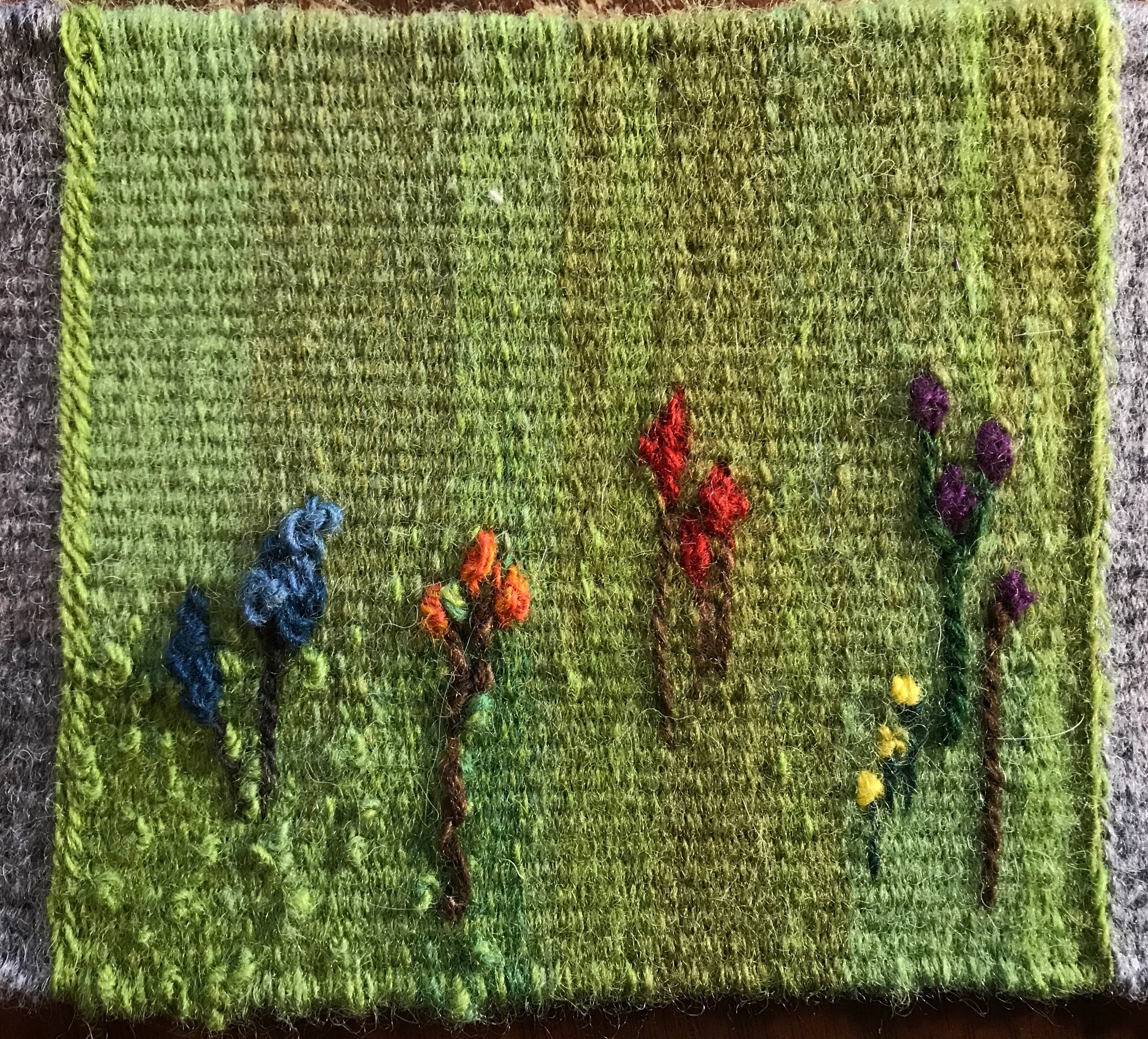 Playing with weaving wildflowers
