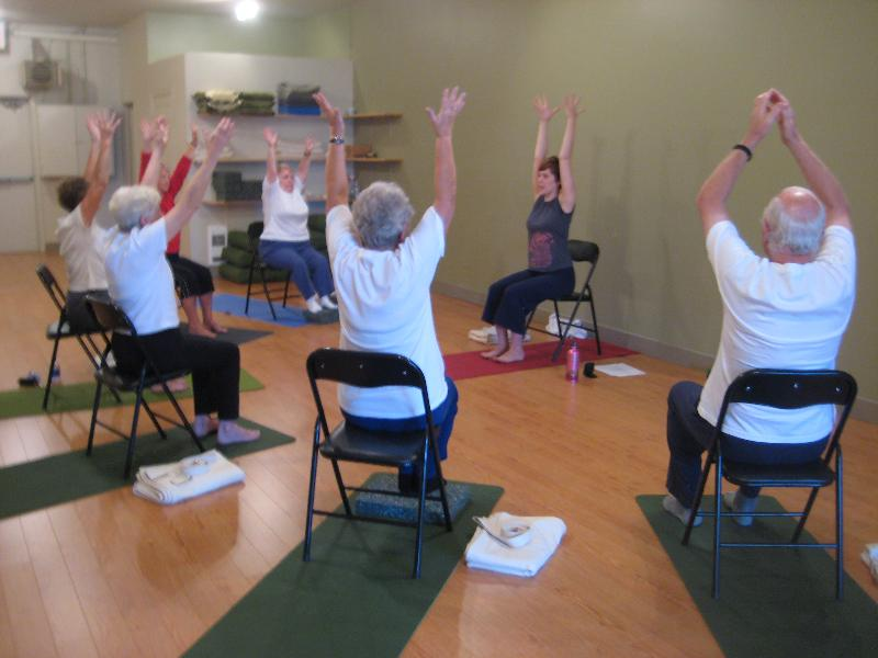 Chair yoga at the Community Center