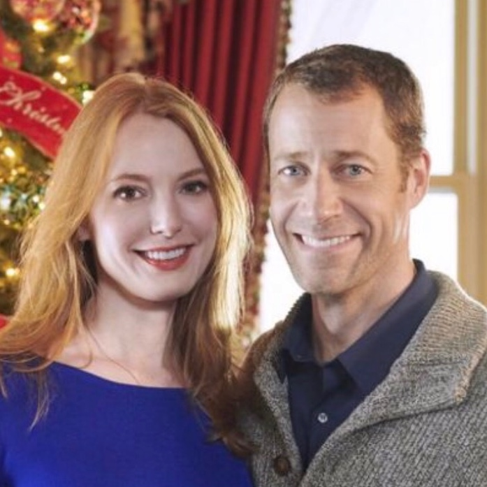 Alicia Witt and Colin Ferguson in Christmas on Honeysuckle Lane - winner of  The Darcy Award for Best Picture