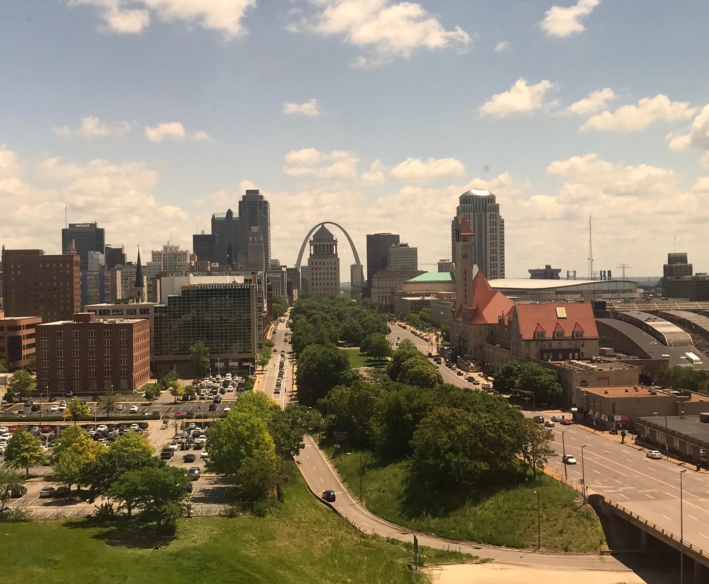 Looking East down Market Street in St. Louis