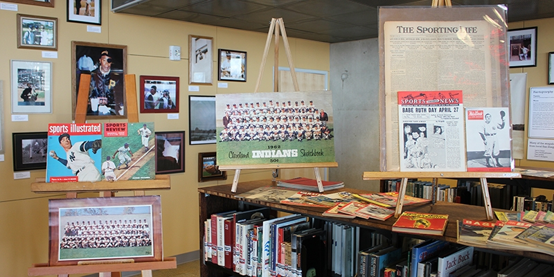 San Diego public library's baseball section