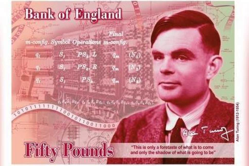 Alan Turing to appear on £50 note