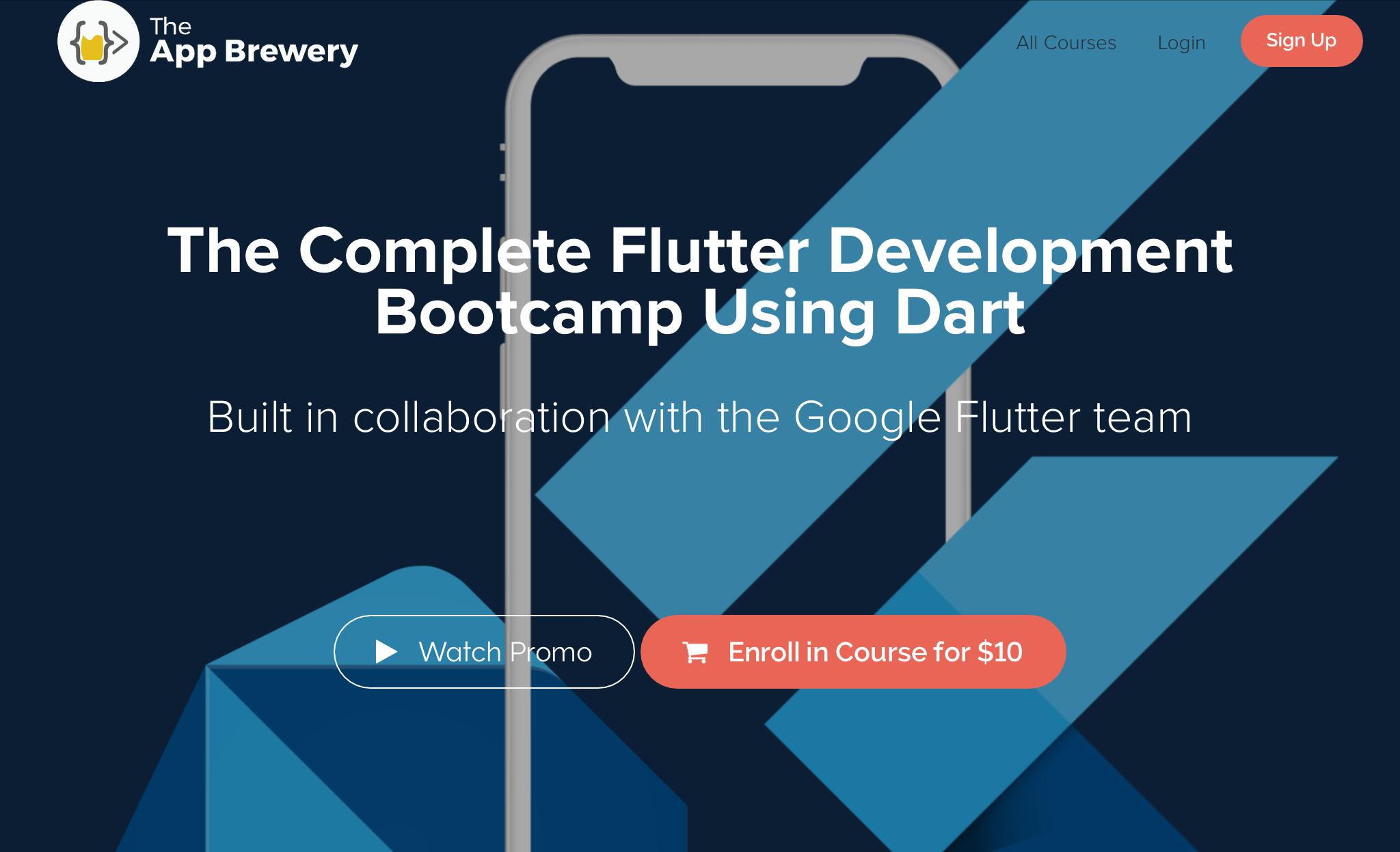 Sponsor: App Brewery's Flutter Bootcamp