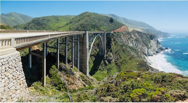 Bixby Creek Bridge on Big Sur Coast