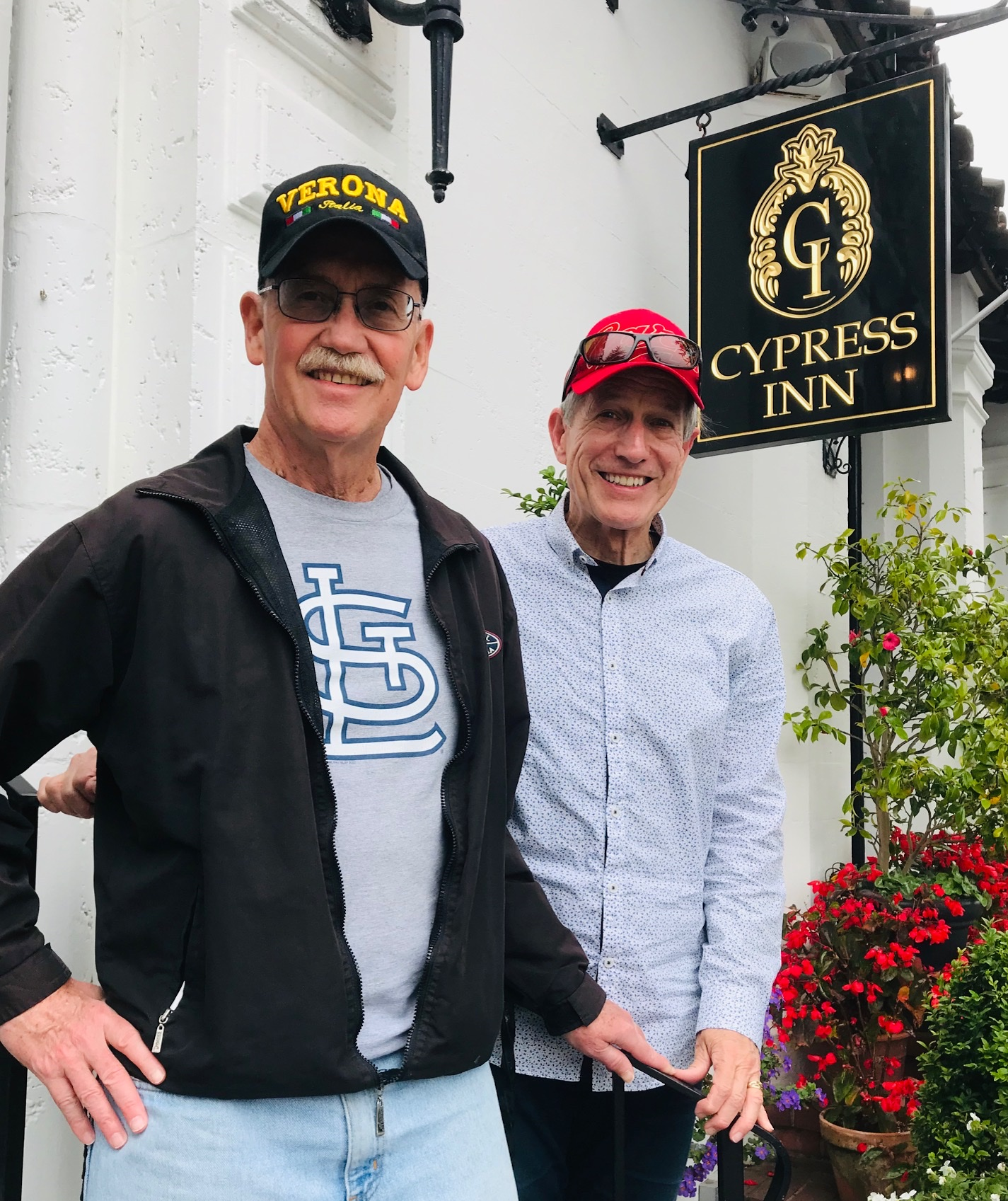 Vince and I at Cypress Inn in Carmel