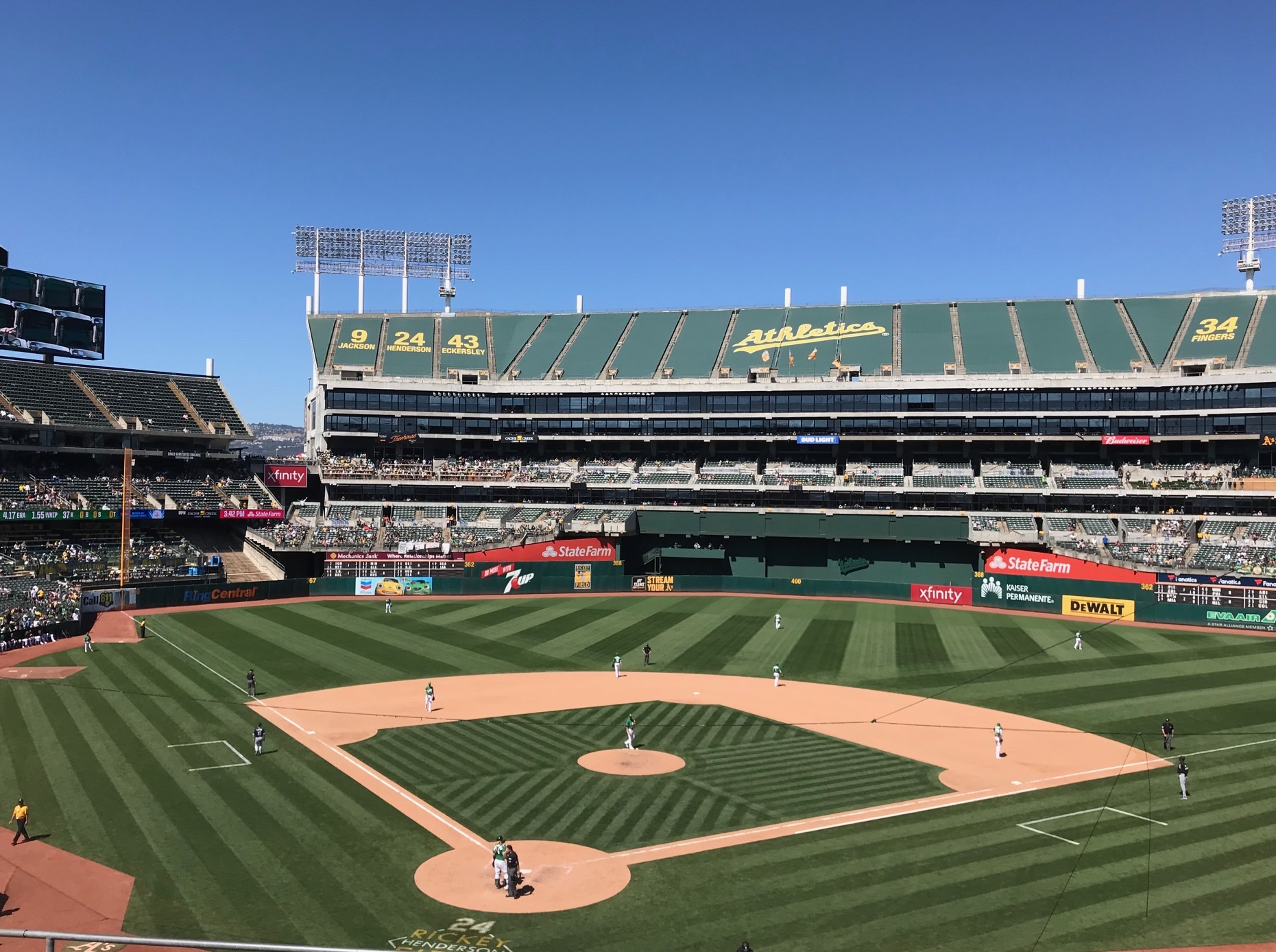 Outfield Stands in A's Coliseum