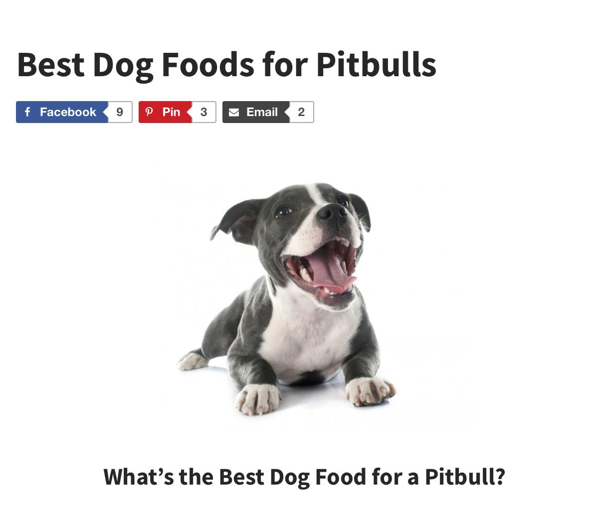 Check out the Dog Food Advisor