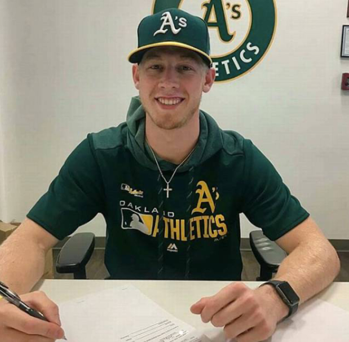 Nathan 'signs' with theOakland A's