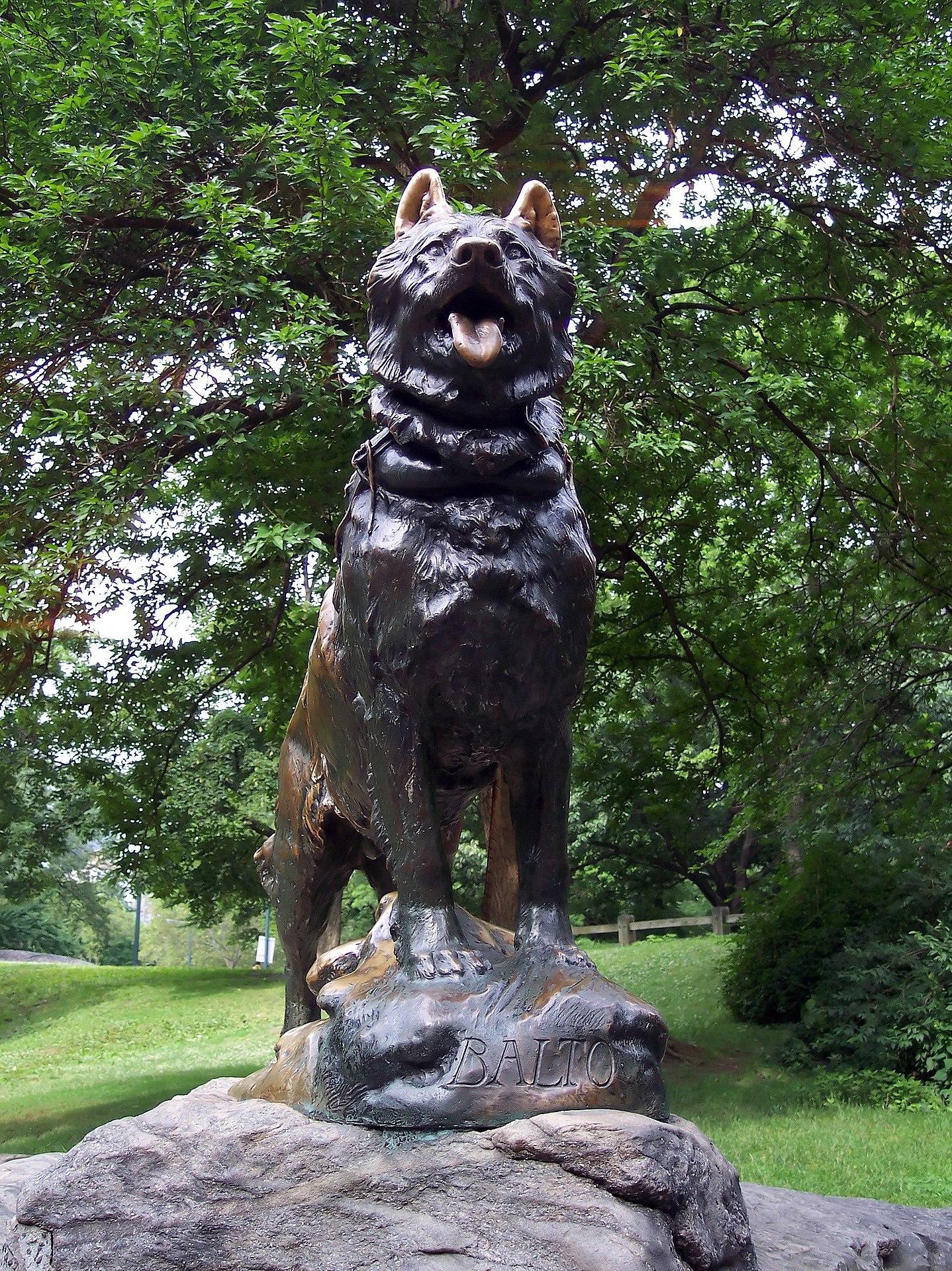 Balto immortalized in NY's Central Park