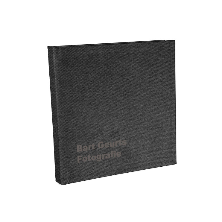 ZWart linnen cover - * Met of zonder Lasertext