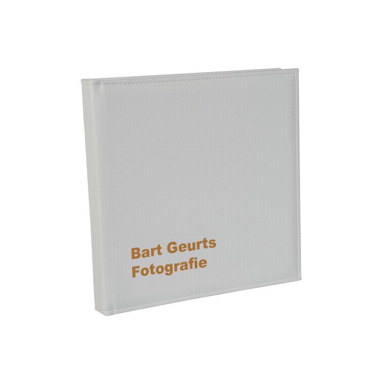 WIT GROF LEDEREN COVER - * Met of zonder Lasertext
