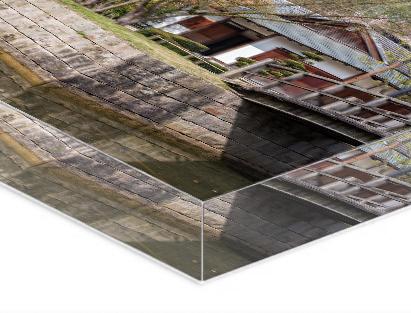 Highlights   Premium fotoafdruk op Fuji papier  Extra dik acrylglas (20 of 30 mm)  Optimale glans en diepte  Solide basis  Glasheldere kwaliteit