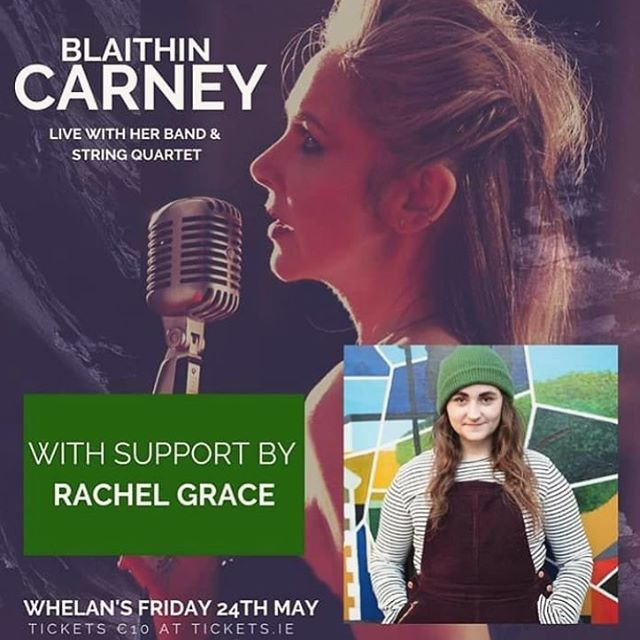 Delighted to announce we have secured this little legend, @rachelgracemusicwx, to play support for my headline gig at @whelanslive on 24th May!! Tickets.ie for tickets 💕💕