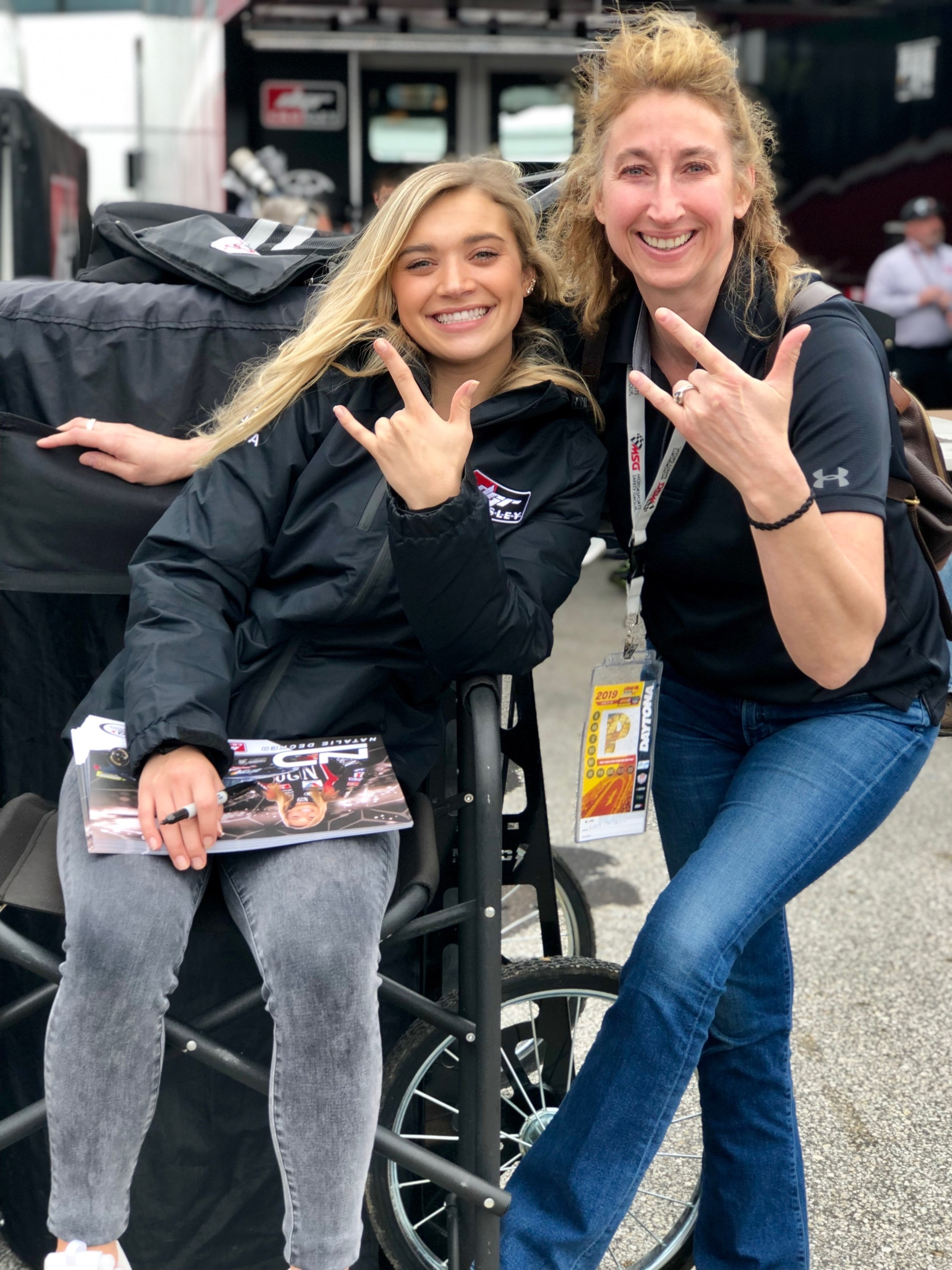 ARCA driver Natalie Decker and I traded the snow from the Austrian Alps for palm trees in Daytona.