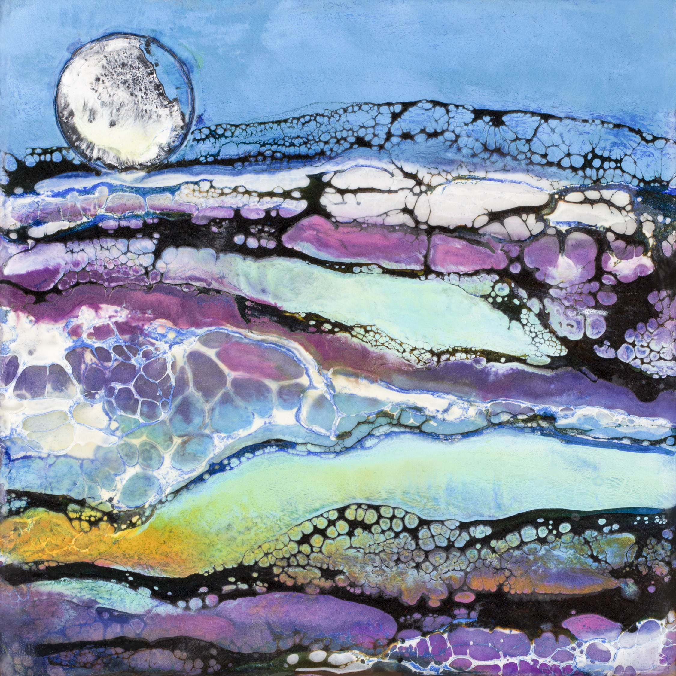 BRONZED MOON 6X6 inches,  Sold     Prints Available
