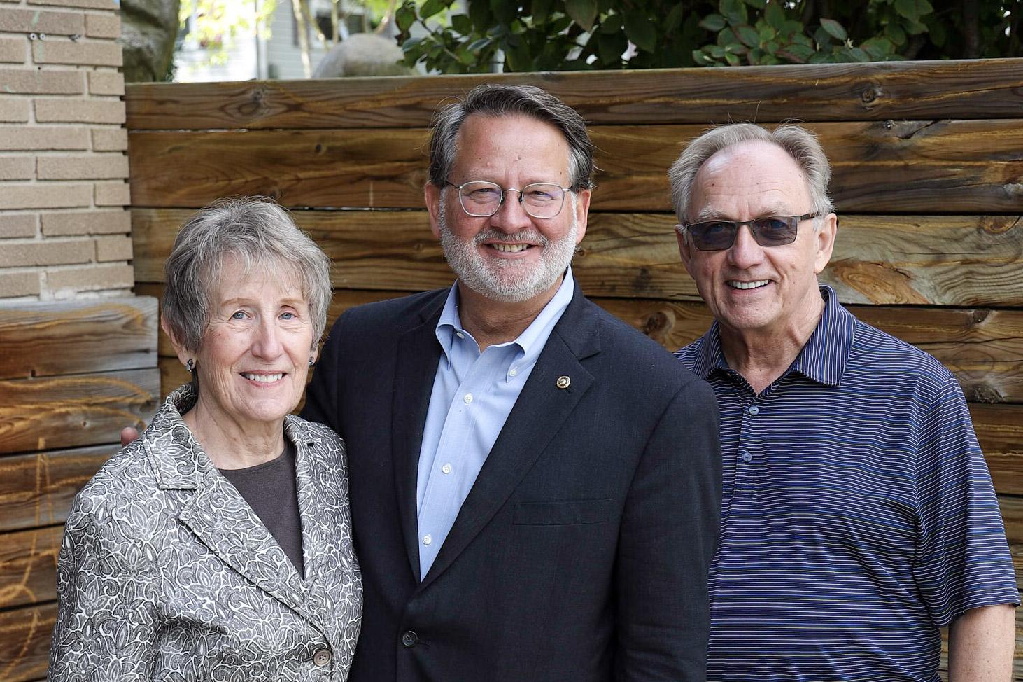 Barbara Dixon, Sen. Peters, Tim Caldwell