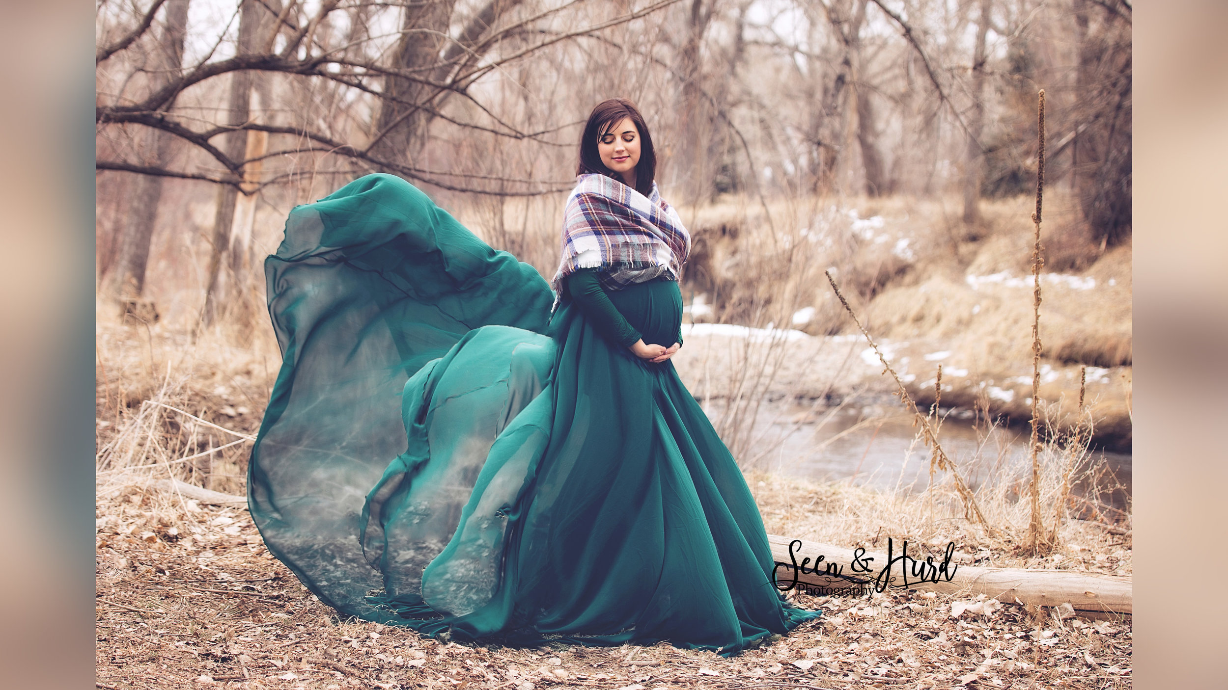 Grace Gown & Chloe Skirt - Hunter Green