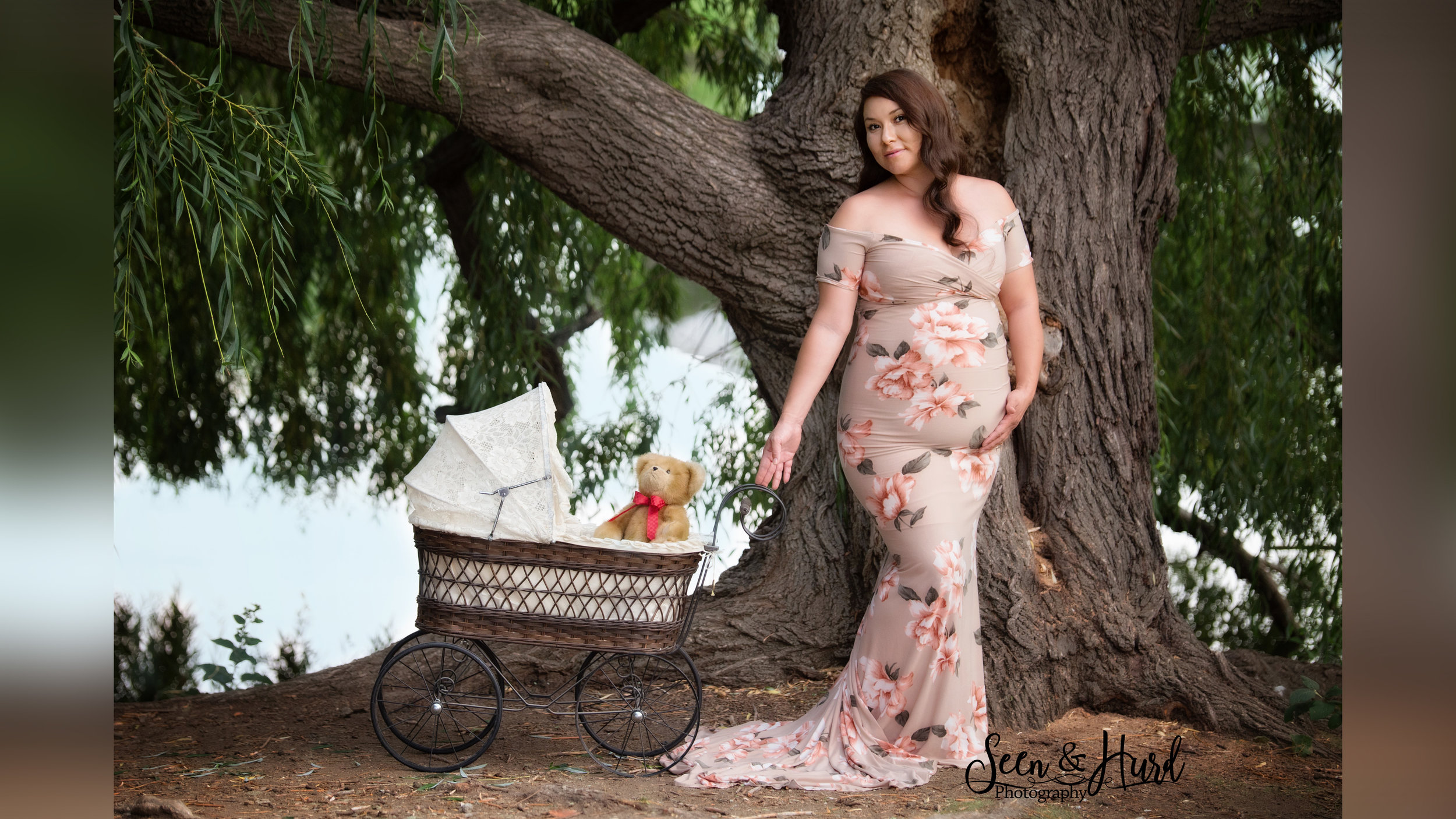 Flora Gown - Taupe Floral