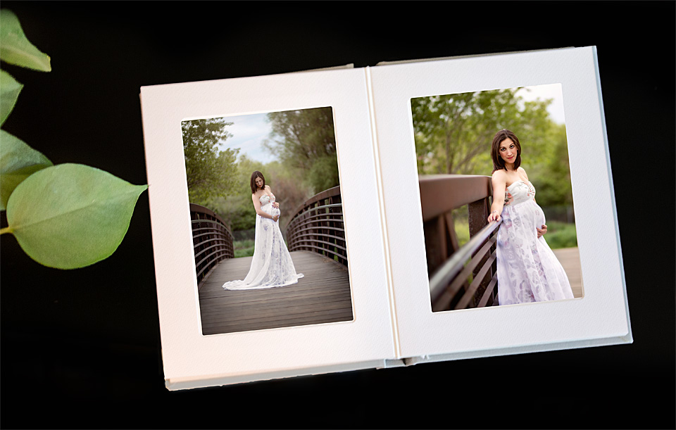 Our Standard Matted Album w/ 10 Luxe Prints.