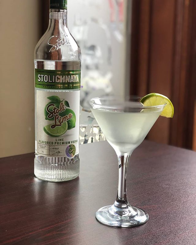 *NEW DRINK ALERT* Our new Lime Drop Martini is the perfect drink to help you ignore the inevitable end of summer approaching us! Come soak up all the sun you can on our patio with one of these in hand! Cheers! 🍸
