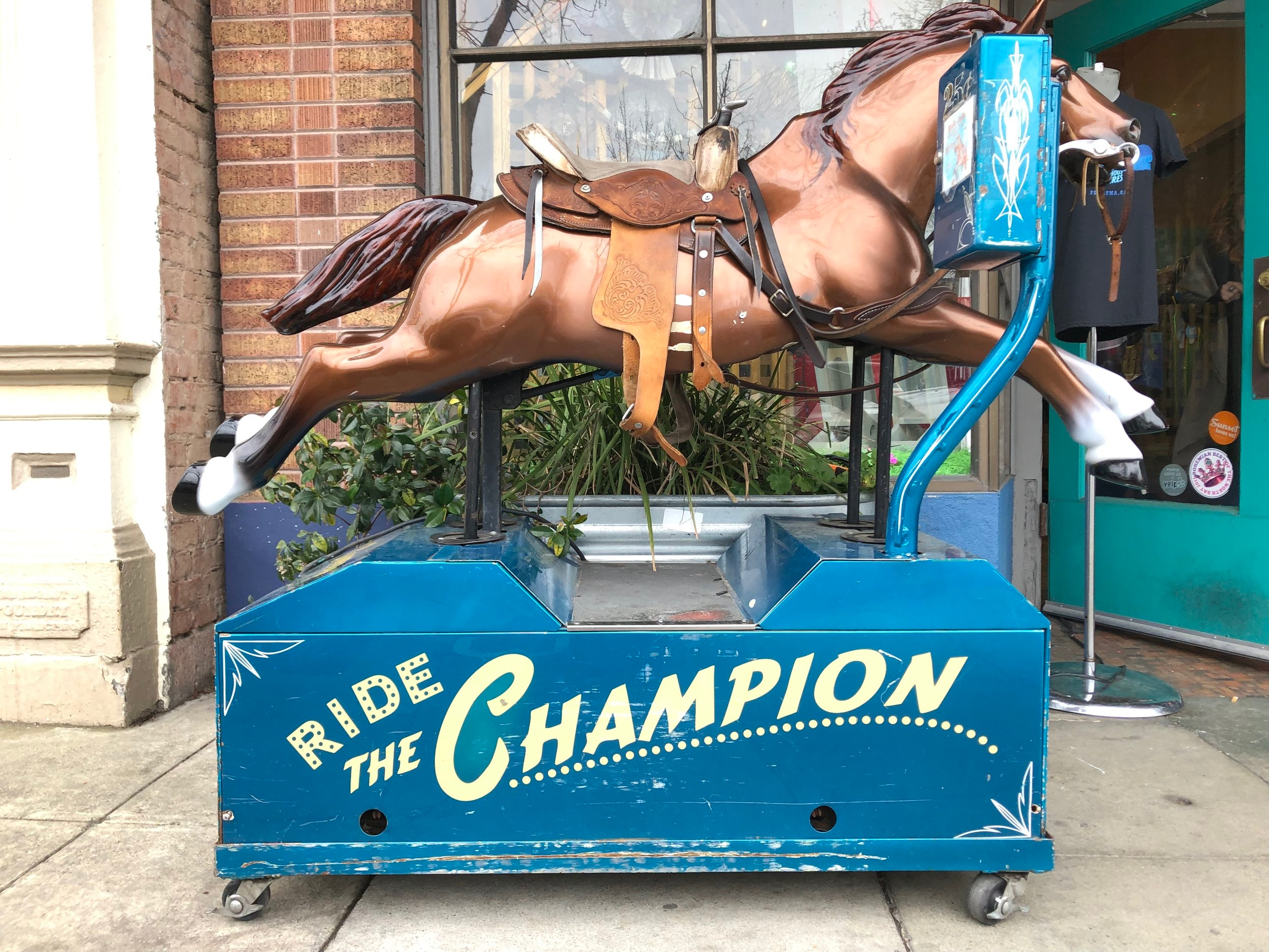 Have three minutes and $0.25 to spend in Petaluma? Ride the Champion.